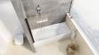 Штора для ванн нерухома одноелементна Ravak PVS1-80 чорний+Transparent 79840300Z1 0