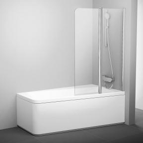 Штора для ванн двоелементна 10° Ravak 10CVS2-100 R полір.алюм.+Transparent 7QRA0C03Z1