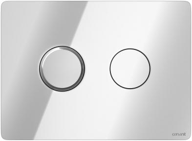 Кнопка змиву пневматична Accento Circle глянцевий хром