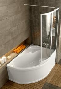 Акрилова асиметрична ванна Rosa I Ravak 150 x 105 R CJ01000000
