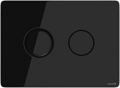 Кнопка змиву пневматична Accento Circle чорне скло