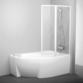 Штора для ванн рухома двоелементна Ravak VSK2 Rosa R 150 Rain 76P8010041