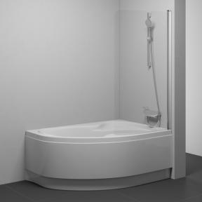 Штора для ванн одноелементна Ravak CVSK1 ROSA 140/150 L сатин+Transparent 7QLM0U00Y1