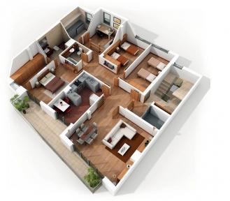 Проект електропостачання 4-кімнатної квартири