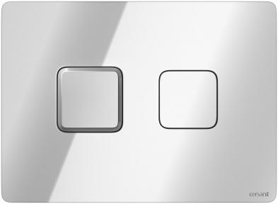 Кнопка змиву Accento Square глянцевий хром Cersanit