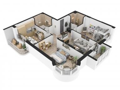 Проект опалення 3-кімнатної квартири
