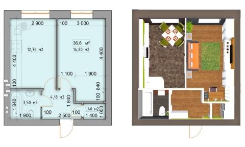 Проект опалення 1-кімнатної квартири