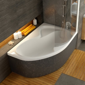 Акрилова асиметрична ванна Rosa II Ravak 170 x 105 R C421000000