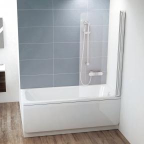 Штора для ванн Ravak CVS1-80 R білий +Transparent 7QR40100Z1
