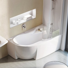 Акрилова асиметрична ванна Rosa 95 Ravak 160 x 95 R C581000000