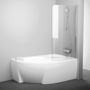 Штора для ванн одноелементна Ravak CVSK1 ROSA 140/150 R полір.алюм.+Transparent 7QRM0C00Y1