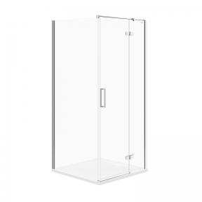 Кутова душова кабіна Jota 90x90x195 правостороння прозоре скло